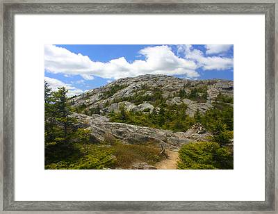 Mount Monadnock Summit From Pumpelly Trail Framed Print