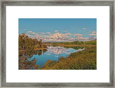 Mount Moran On Oxbow Bend Framed Print by Brian Harig