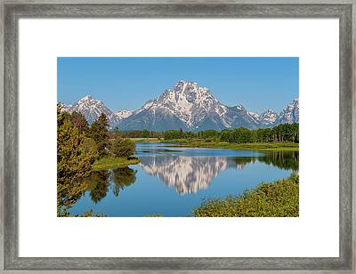 Mount Moran On Snake River Landscape Framed Print by Brian Harig
