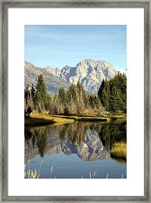 Mount Moran Reflections Framed Print by Marty Koch