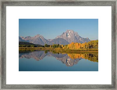 Framed Print featuring the photograph Mount Moran by Steve Stuller