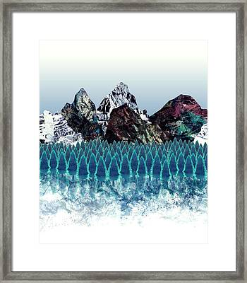 Mount North Framed Print by Varpu Kronholm