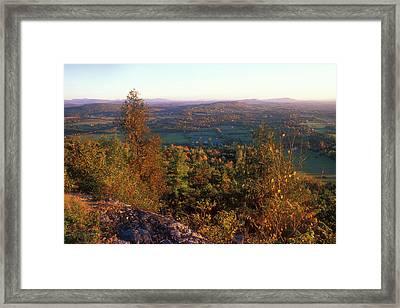 Mount Philo Foliage View Framed Print by John Burk