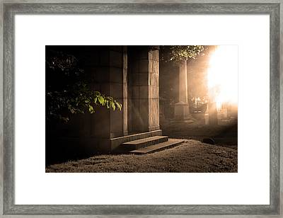 Mount Pleasant Cemetary Belleville New Jersey Framed Print
