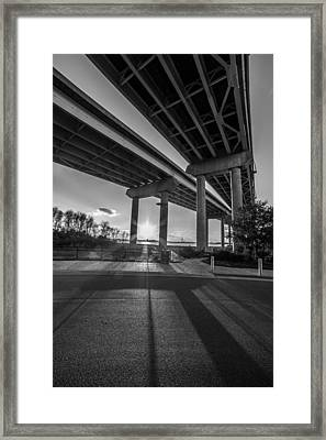 Mount Pleasant Waterfront Park Black And White Framed Print by Donnie Whitaker