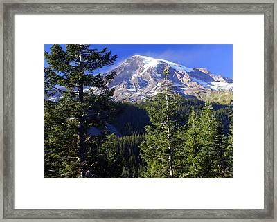 Mount Raineer 1 Framed Print by Marty Koch