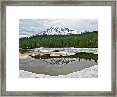 Mount Rainier From Reflection Lakes Framed Print