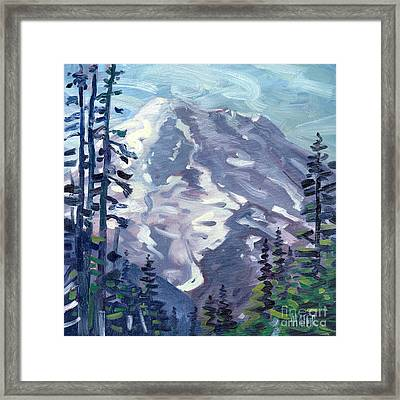 Mount Rainier From Sunrise Point Framed Print by Donald Maier