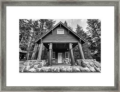Mount Rainier Gas Station Framed Print