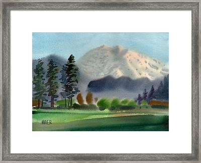 Mount Rainier In Evening Framed Print
