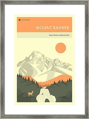 Mount Rainier National Park Poster Framed Print