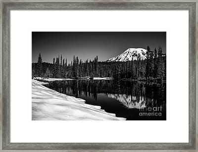 Mount Rainier Reflection Framed Print