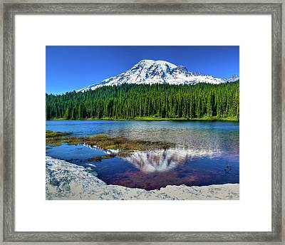 Mount Rainier Reflection Framed Print