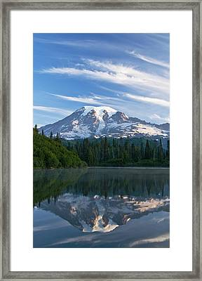 Mount Rainier Reflections Framed Print