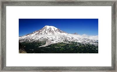 Mount Rainier Super Pano Framed Print