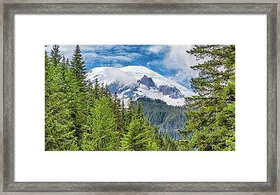 Framed Print featuring the photograph Mount Rainier View by Stephen Stookey