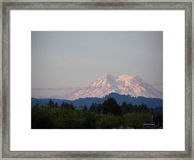 Mount Rainier Washington  Framed Print by Laurie Kidd