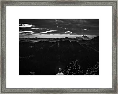 Mount Rainier With Rolling Hills Framed Print by Pelo Blanco Photo