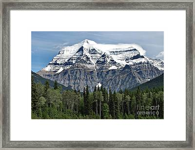Framed Print featuring the photograph Mount Robson British Columbia by Elaine Manley