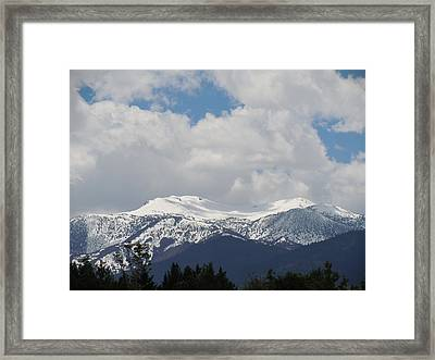 Mount Rose Reno Nevada Framed Print