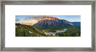 Mount Rundle Panorama Framed Print by Tomas Nevesely