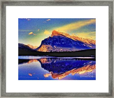 Mount Rundle Reflection Framed Print by Lyle  Huisken