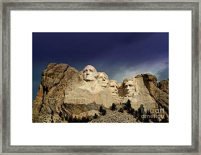 Mount Rushmore Framed Print by Brent Parks