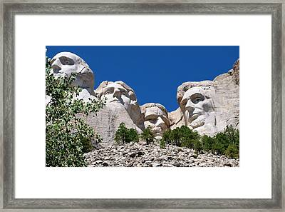 Mount Rushmore Close Up View Framed Print