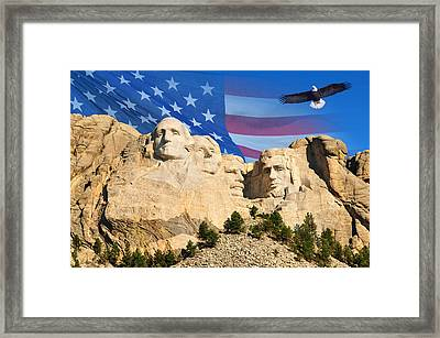 Mount Rushmore Framed Print by Edwin Verin