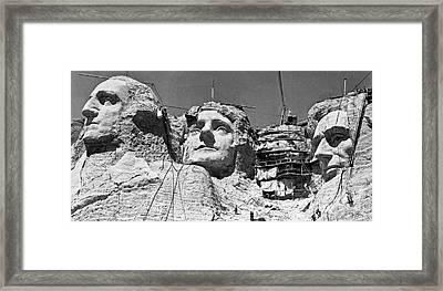 Mount Rushmore In South Dakota  Framed Print by American School