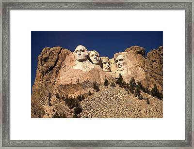 Mount Rushmore National Monument Framed Print by Art America Gallery Peter Potter