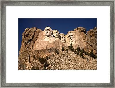 Mount Rushmore National Monument South Dakota Framed Print