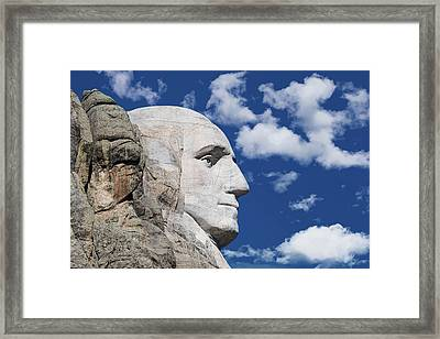 Mount Rushmore Profile Of George Washington Framed Print