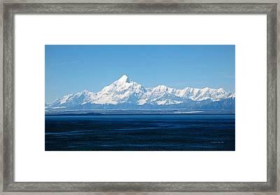 Mount Saint Elias. Yakutat Bay Seascapes Framed Print