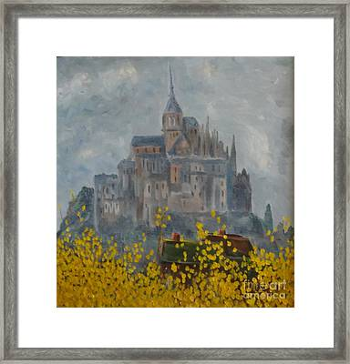 Framed Print featuring the painting Mount Saint Michael by Rod Ismay
