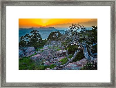 Mount Scott Sunset Framed Print by Inge Johnsson