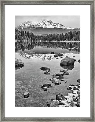 Mount Shasta Reflection Framed Print