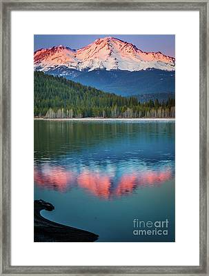 Mount Shasta Sunset Framed Print by Inge Johnsson