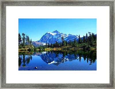 Mount Shuksan And Picture Lake Framed Print