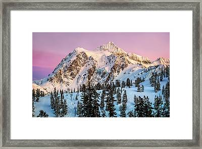 Mount Shuksan At Sunset Framed Print by Alexis Birkill