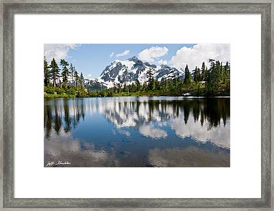 Mount Shuksan Reflected In Picture Lake Framed Print