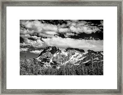 Framed Print featuring the photograph Mount Shuksan Under Clouds by Jon Glaser