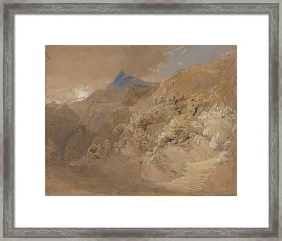 Mount Siabod From Tyn-y-coed Near Capel Curig Framed Print by Samuel Palmer