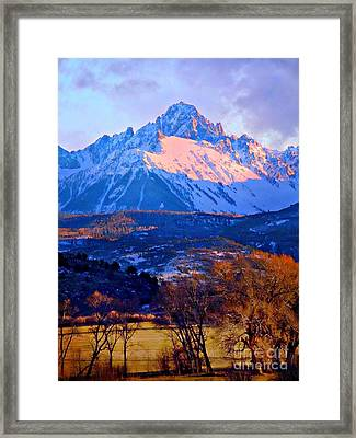 Mount Sneffels  Framed Print by Annie Gibbons