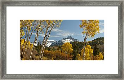 Mount Sneffels Autumn Panorama Framed Print by Dusty Demerson