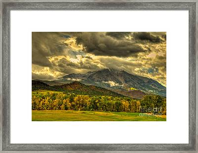 Mount Sopris Fall Morning After A Clearing Storm Framed Print