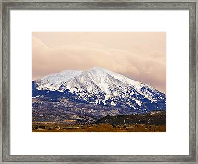 Mount Sopris Framed Print by Marilyn Hunt