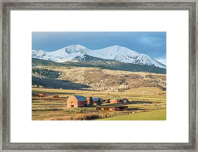 Mount Sopris Sunrise Framed Print by Eric Glaser