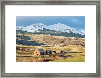 Mount Sopris Sunrise Framed Print by Eric Glaser