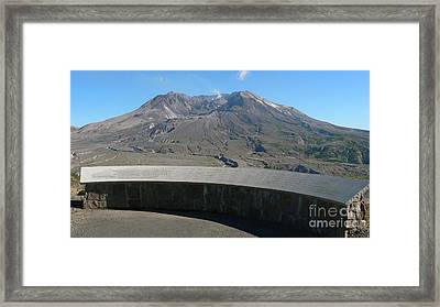 Framed Print featuring the photograph Mount St. Helen Memorial by Larry Keahey